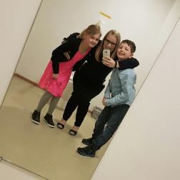 Billedesjov - søn, niece og jeg